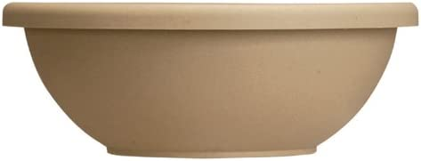 Akro-Mils GAB22000A34 Garden Bowl with removable Drain Plugs, Sandstone, 22-Inch Discontinued by Manufacturer