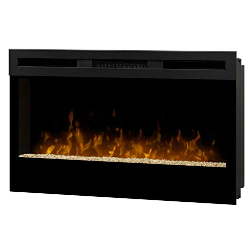 【アウトレット】34インチ ビルトイン&ウォールマウント電気暖炉本体 ウィックソン SR展示品 温風2まで/ガラスにキズあり/送料無料   B07RDP6ZHG