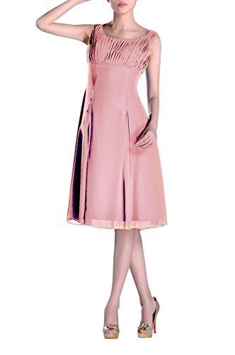 Dusty Knee Dress Formal Length of Mother Bridesmaid the Rose Pleated Brides Special Occasion p6Bq5P