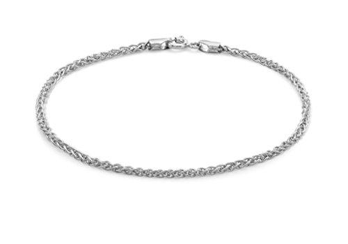 "Or blanc 9carats 050Spiga chaîne bracelet 19CM/7,5"""