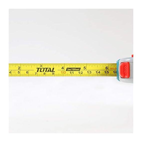MR LIGHT TOTAL Iron Steel Measuring Tape, 3 m x 16 mm, Multicolour 5