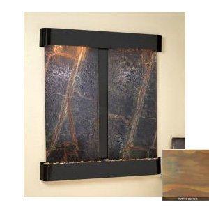 Adagio CFR1021 Cottonwood Falls - Black-Rust Natural Slate Wall Fountain