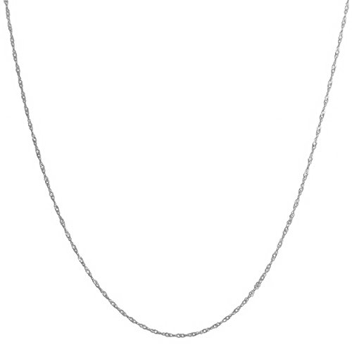 Solid 14k White Gold 1mm Singapore Chain (20 inch)
