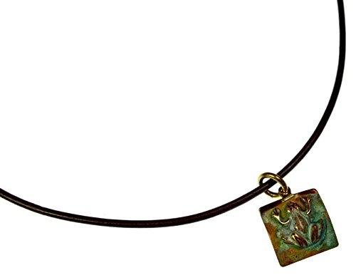 Patina Brass Tree Frog Pendant on ()