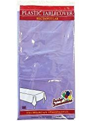 Plastic Party Tablecloths - Disposable, Rectangular Tablecovers - 8 Pack - Hydrangea - By Party Dimensions ()