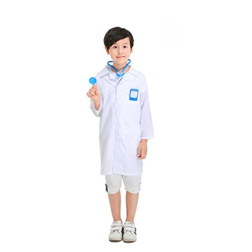YOLSUN Lab Coat Role Play Costume Set for Kids,...