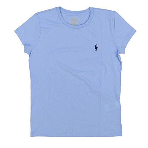 Big Womens Logo Tee (RALPH LAUREN Polo Womens Crewneck Pony Logo Tee (Large, Light Blue Heather (Navy Pony)))
