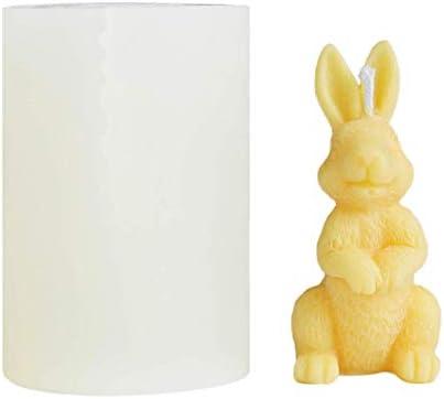 Siliconen mal kaars mallen voor het gieten van konijn kaars siliconen mal ambachtelijke mal DIY klei ambachtelijke mal voor het maken van kaarsen