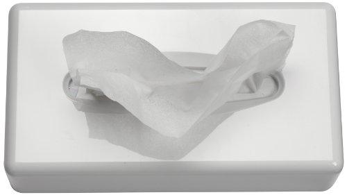 Funny Tisch und Wandspender für Kosmetiktücher, weiß 255 x 130 x 70 mm, 1er Pack (1 x 1 Stück)