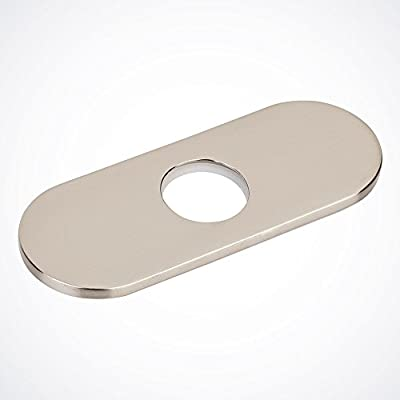 "GotHobby 4"" Bathroom Vessel Sink Faucet Hole Cover Deck Plate Escutcheon, Brushed Nickel"
