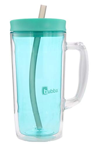 Bubba Envy Travel Thermal Mug, 32 Ounces - Double Wall Insulated With Straw and Handle- Keep All Your Favorite Cold Drinks at Your Side - Sweat Resistant, Ideal For Travel - Island Teal