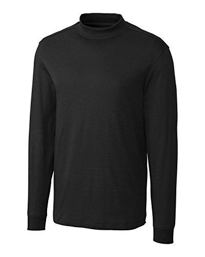 Cutter & Buck Mesh Pullover - Cutter & Buck Men's Big And Tall Classic Pullover Shirt, Black, XXXX-Large Tall