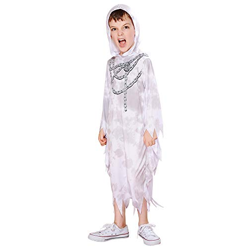 Eraspooky Boy's Ghost Costume Halloween Scream Reaper