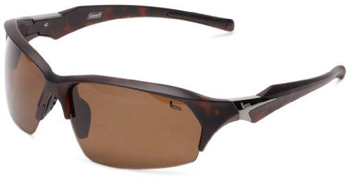 Coleman Windchaser Polarized Shield Sunglasses,Matte Dark Tortise Shell,139 - Shell Tortise Sunglasses