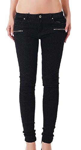 Pantaloni Basic Redseventy Donna Nero Skinny aYqgY6Bn