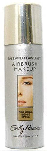 Sally Hansen Fast and Flawless Airbrush Make-up for All Skins Natural Beige Spice 1.5 Oz (Airbrush Foundation)
