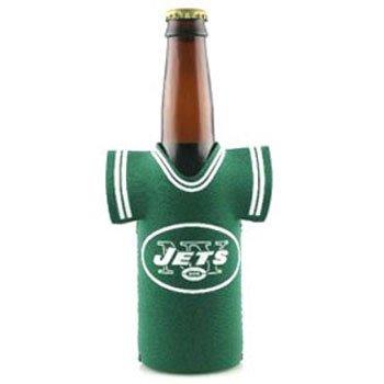 Tech Neoprene Bottle Jersey - NFL New York Jets Green Sports Fan Cold Beverage Koozies, Team Color, One Size