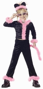 Child's Pink Kitty Cat Halloween Costume (Size: X-Small 6-8)