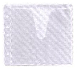 Cd Double Sided White Refill (500 CD Double-sided Refill Plastic Sleeve White)