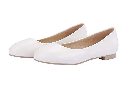 Pelle Agoolar Basso Tirare Bianco Tacco Donna Puro Ballet Gmmdb006899 flats Maiale Di rE1wfE7q