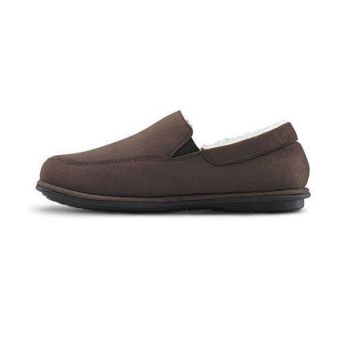 Dr Comfort Relax Herren Hausschuhe   Geschlossene Ferse   Sensitive Füße Kamel