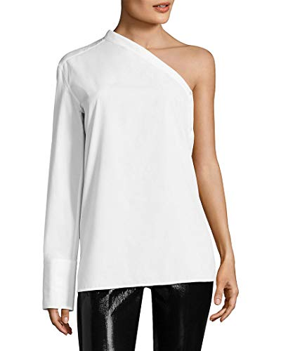 - Helmut Lang Womens One Shoulder Button-Down Blouse White S