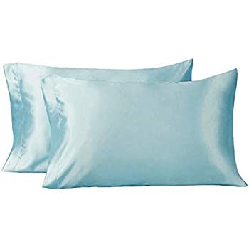 Amazon Com Lulusilk Pillowcase Silk Satin Pillow Cover