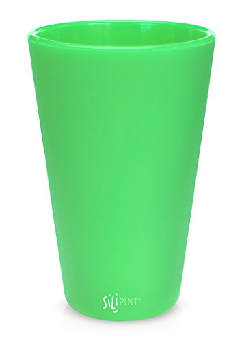 Silipint Silicone Pint Glass Set, Patented, BPA-Free, Shatter-proof, Unbreakable Silicone Cup Drinkware (Single,Glow-in-the-Dark) -