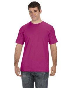 Anvil Men's Organic Cotton T-Shirt, Raspberry, X-Large