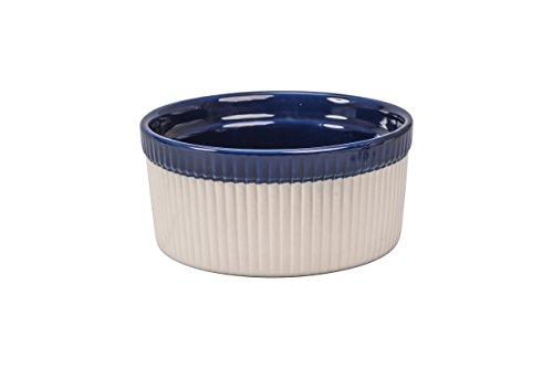BIA Cordon Bleu Quatro 1-Quart Soufflé Dish, Sand/Cobalt