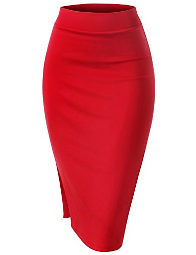 Ruched Back Pencil Skirt - 9