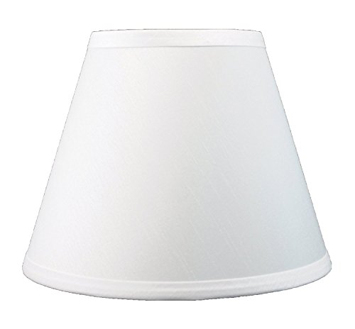 "Urbanest Coolie Hardback Lampshade ,Faux Silk, 5x9x7"", Off W"