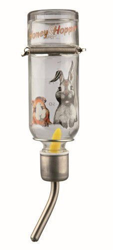 Trixie Honey And Hopper Glass Water Bottle, 125ml (Aquatic Valve Ball)