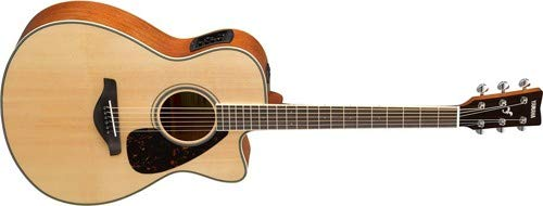 Yamaha FSX820C Small Body Solid Top Cutaway Acoustic-Electric Guitar, Natural ()