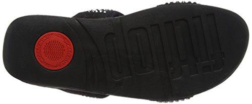 Slide Donna Glitzie Aperta Sandali Black Fitflop Sandals Nero Punta 1 qgTW5