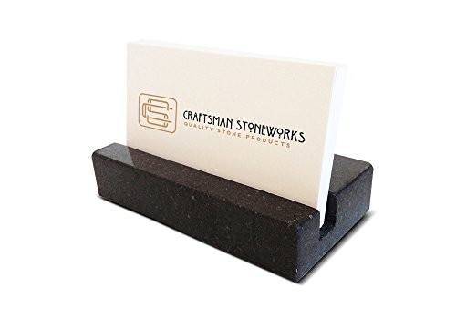Business Card Holder - Black Absolute Granite