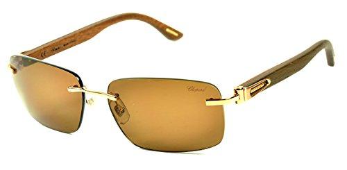404b0dce0b61e Chopard SCH A56V sunglasses Col. 8FCP Gold-Wood temples/Polarized ...