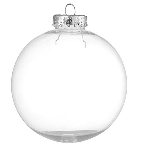 Glass Balls Christmas Ornaments - youseexmas Glass Hanging Ball Christmas Ornaments Clear Color 8cm Sponge Pack of 6