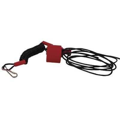CLIP TYPE HANDLEBAR MOUNT TETHER SWITCH (RED)
