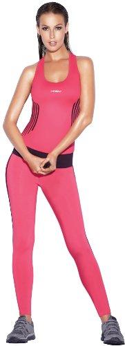 Haby Tenue de Sport pour Femme Set Course Clothes Débardeur Racerback Haut et Leggings