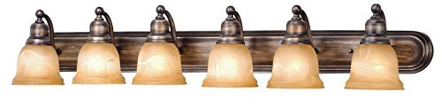 Parisian Finish (Vaxcel LS-VLD106PZ Lasalle 6 Light Vanity Light, Parisian Bronze Finish by Vaxcel)