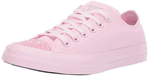 (Converse Women's Unisex Chuck Taylor All Star Glitter Accent Low Top Sneaker Pink Foam, 11 M US)
