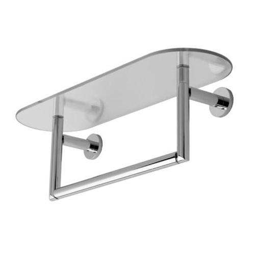 Brass 24' Glass Shelf (Motiv 0219T-24/PC Sine Tempered Glass Shelf Towel Bar)