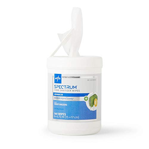 (Medline Spectrum Hand Sanitizer Wipes, with Aloe & Vitamin E, 160 Wipes Each Canister (Pack of 6) )