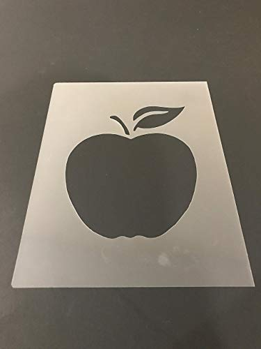 Apple Stencil #1 Reusable 10 mil Thick 8in x 10.5in -