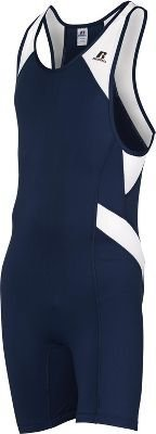 Russell Athletic Men's Wrestling Sprinter Singlet Suit Medium Navy Blue and W... by Russell Athletic