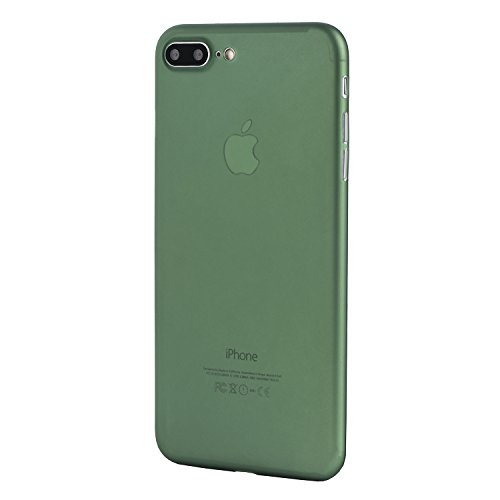 iPhone 7 Plus Case, Thinnest Cover Premium Ultra Thin Light Slim Minimal Anti-Scratch Protective - For Apple iPhone 7 Plus | totallee The Scarf (Deep - Thin Green