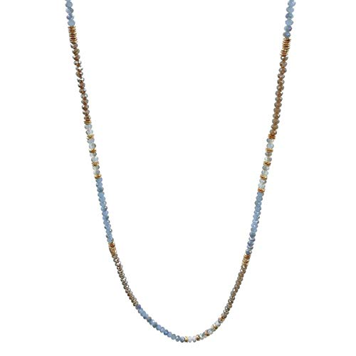(Karen accessories Fashion Long Beaded Necklace Handcrafted Crystal Beads Strands Necklace (Style 4))