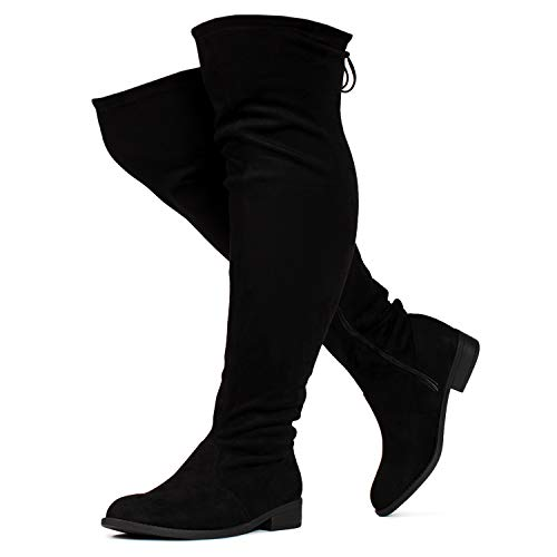 RF ROOM OF FASHION Women's Wide Calf Wide Width Stretchy Over The Knee Sock Boots - Plus Size Friendly