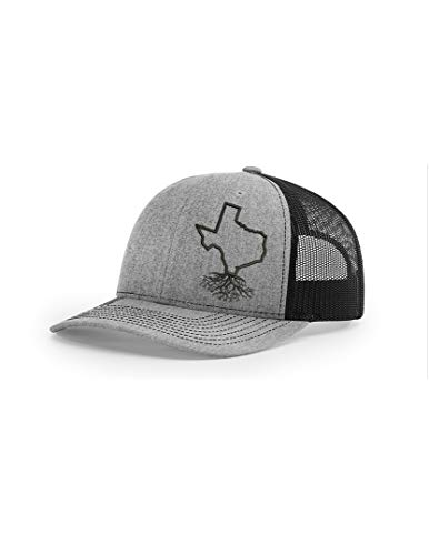 (Wear Your Roots Texas Snapback Trucker Hat, Grey, One Size - Adjustable)